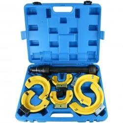 Συμπιεστής ελατήριων ανάρτησης με 3 σετ πιατέλων και πλαστικά προστατευτικά καλύμματα