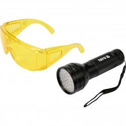 Φακός UV και γυαλιά ανίχνευσης διαρροής A/C