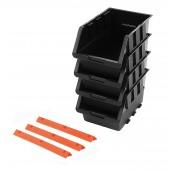 Σετ 4 σκαφάκια με 3 πλαστικές ράγες στήριξης