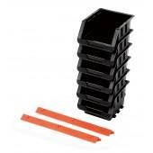 Σετ 6 σκαφάκια με 4 πλαστικές ράγες στήριξης