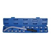 Κλειδί κυρτό μακρύ με αφαιρούμενες κεφαλές Torx και 12γωνες για τεντωτήρες