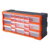 Κουτί αποθήκευσης πλαστικό με 22 συρτάρια διάφανα