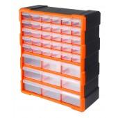Κουτί αποθήκευσης πλαστικό με 39 διάφανα συρτάρια