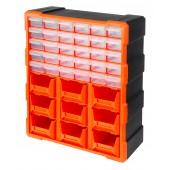 Κουτί αποθήκευσης πλαστικό με 30 πλαστικά συρτάρια διάφανα και 9 σκαφάκια