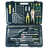 Συλλογή με εργαλεία και καρυδάκια 1/4''-3/8''-1/2'' (142 κ.)